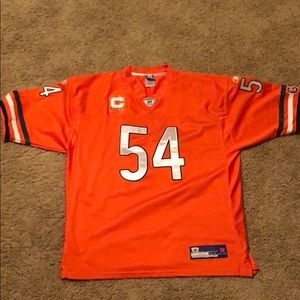Brian Urlacher stitched on game replica jersey